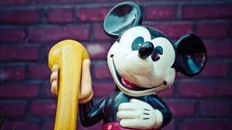 cute figurine of Mickey Mouse from the disney cartoon