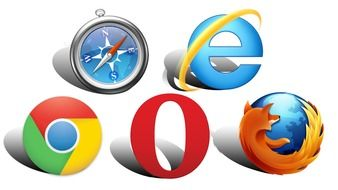 variety of browser icons on the Internet