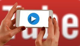 Hands Smartphone with You Tube
