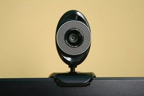 black Webcam, frontal view