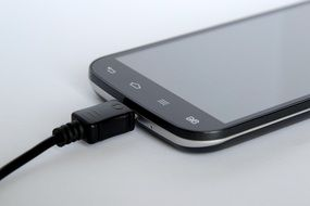smartphone with cable
