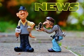 funny figures of journalist and photographer