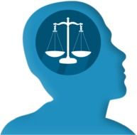 scales in the head as a symbol of justice