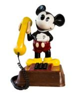 mickey mouse with phone