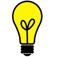 graphic image of a yellow light bulb