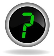 black button with a question mark