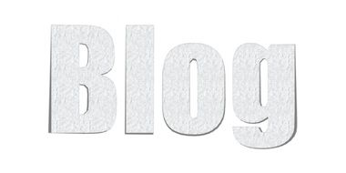 blog as an inscription in the picture