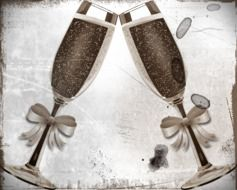 graphic image of champagne glasses