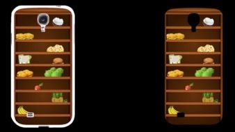 mobile phone case as a cabinet for products