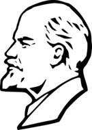 graphic image of Lenin in profile