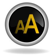 black button with letter A