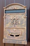 vintage locked Mail Box