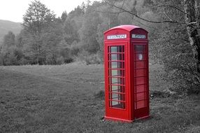 red v beautifulTelephone Booth