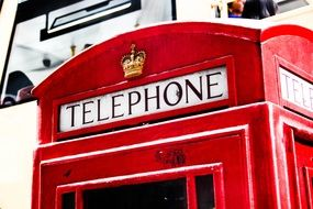 red phone booth in london close up