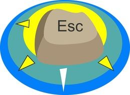 "comic image of the ""esc"" button"