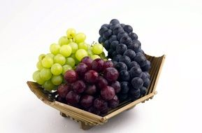 different grape varieties on a plate