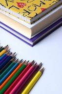 pencils rainbow back to school