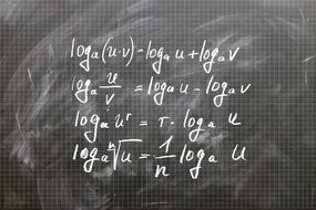 Logarithm on a board