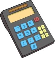 black calculator drawing