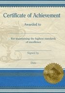 Certificate Achievement Template drawing