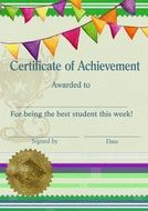 Certificate of achivement, Template