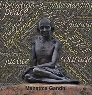 Gandhi as a symbol against violence