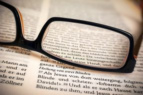 Bible Glasses Healing Read