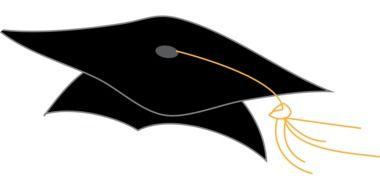graphic image of a black graduation hat
