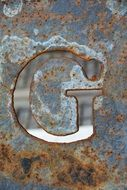 letter g is like metal