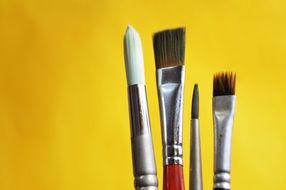 set of brushes for creativity