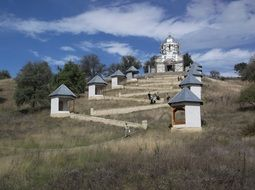 orthodox church on the hill