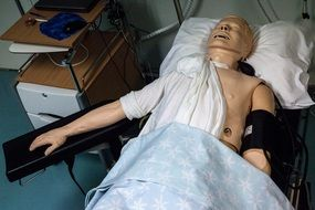 paramedics doll in the hospital medical