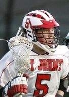 lacrosse player in special uniform