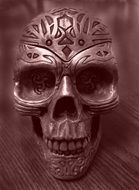 Metal Skull Decoration