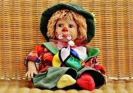 colorful toy clown