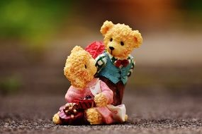 Lovers, couple of teddy Bears, toys