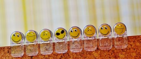 emoticons on transparent clamps