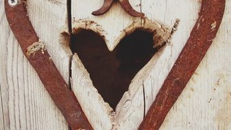 Heart Wooden Door Entrance