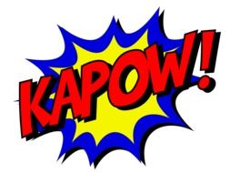 """Kapow"" from comics clipart"