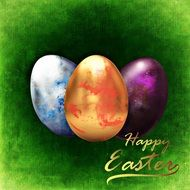 green Easter greeting card