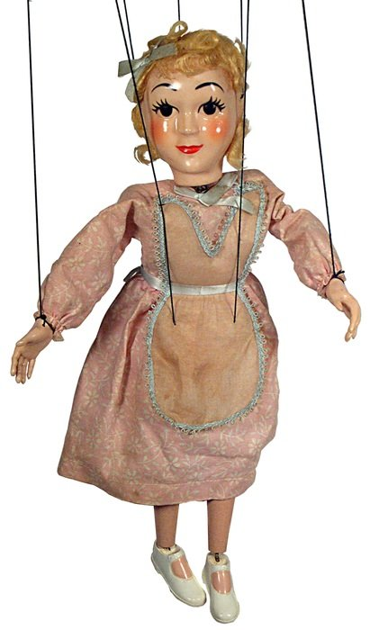 doll in the puppet theater