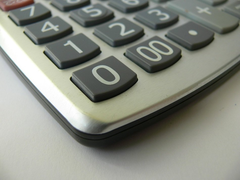 Picture of calculator in the office