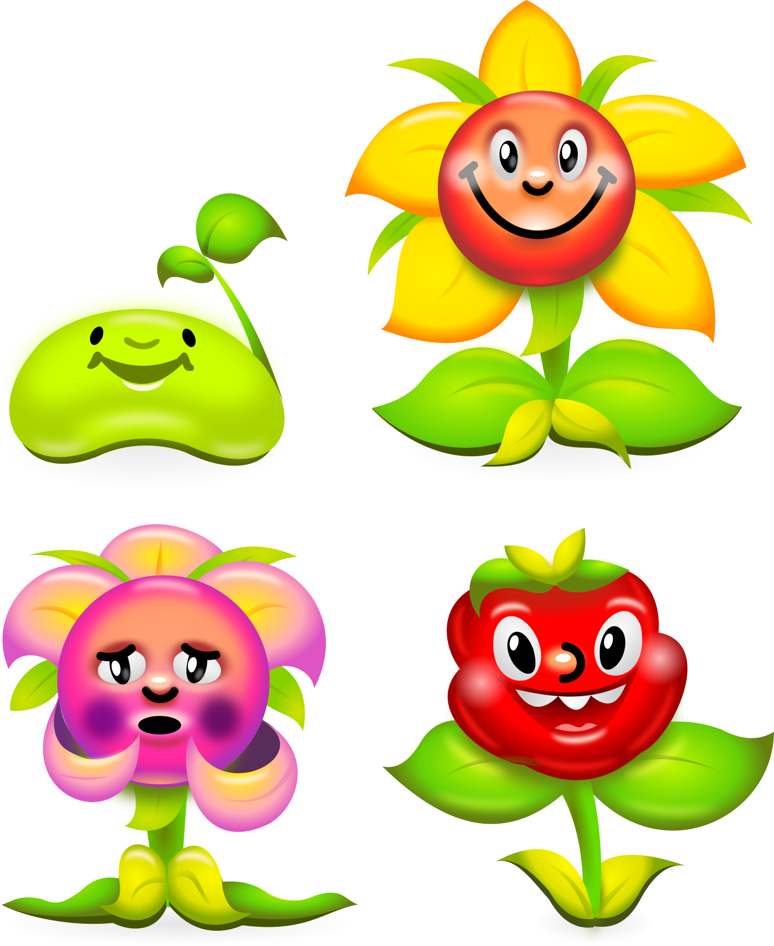 Веселый цветок картинка, картинки аву для