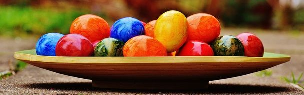bright colorful easter eggs