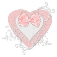 pink heart with bow tie drawing