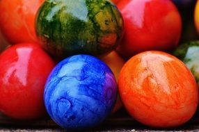 happy Easter eggs colors