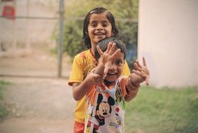 happy indian children