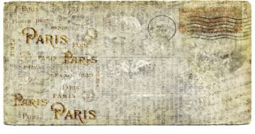 vintage letter to Paris with postage stamp
