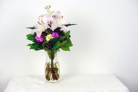 Pink Green Flowers Bouquet
