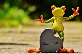 Funny Frog Looking For Happiness